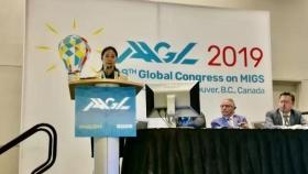 我院单孔腹腔镜新技术在第48届美国妇科腔镜全球年会中成功展示