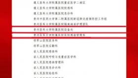 """喜报:我院3个集体荣获""""贵州省抗击新冠肺炎疫情先进集体""""称号,16人荣获""""贵州省抗击新冠肺炎疫情先进个人""""称号"""