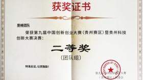 """喜报:呼吸与危重症医学科""""景峰团队""""在第九届中国创新创业大赛(贵州赛区)中喜获佳绩"""