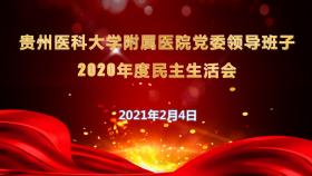 我院召开党委领导班子2020年度民主生活会